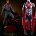 Superman Red Son V2 Jumpsuit Superhero Bodysuit Cosplay Costume For Adult  Kids