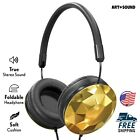Art & Sound Faceted On-Ear Wired Headphones, Stereo Sound, Foldable & Adjustable