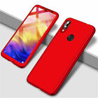 For Xiaomi Redmi Note 9S 8T 8 360° Full Protection Cover Case + Tempered Glass