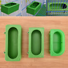 Plastic Green Food Water Bowl Cups Parrot Bird Pigeons Cage Cup Feeding Feed 9H