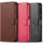 For Samsung Galaxy A10E Case, Premium Leather Wallet + Tempered Glass Protector