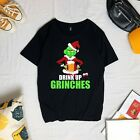 Drink Up Grinches Funny Christmas T-Shirt, Unisex Tee