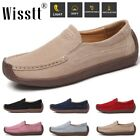 Women's Comfy Leather Anti-slip Shoes Walking Flats Moccasin Loafers Casual Work