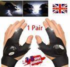 1 Pair LED Gloves with Waterproof Lights Fishing Glove UK Father's day Tool