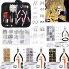1072PCS DIY Necklace Earrings Handmade Jewelry Starter Making Kit Lot Craft Tool