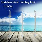 316 Stainless Steel Balustrade Railing Post Grade Glass Clamps 110cm Fencing UK