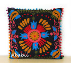 "24"" Square Suzani Cushion Cover 22"" Embroidery Sofa Pillowcase 16"" Pillow Cover"