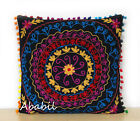 "24"" Square Suzani Cushion Cover 18"" Embroidery Pillowcase 16"" Pillow Cover D4"