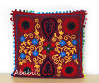 "24"" Square Suzani Cushion Cover 18"" Embroidery Pillowcase 16"" Pillow Cover D8"