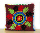 "24"" Square Suzani Cushion Cover 18"" Embroidery Pillowcase 16"" Pillow Cover D10"
