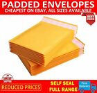 GOLD PADDED BUBBLE ENVELOPES BAGS POSTAL WRAP-  VARIOUS QUANTITES- ALL SIZES
