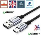 Ugreen USB to Type C Cable for Samsung S10 S9 3A Fast USB Charging Charger redmi