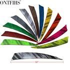 24 Pcs 5'' Shield Archery Plumage Ink Painting Arrow Feathers Fletching