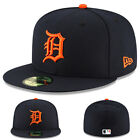 New Era Detroit Tigers 5950 Fitted Hat MLB On Field Road Authentic Made in U.S.A