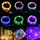 5/10/20M Copper Wire LED Fairy String Light Remote Timer Control Christmas Decor