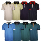 FILA Men's Striped Snap On F-Box S/S Polo T-Shirt S37