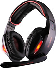Sades Wired Usb 7.1 Channel Virtual Surround Stereo Gaming Headset Over Ear Head