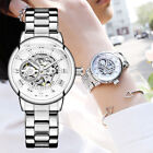 ORKINA Silver Women's Watch Stainless Steel Skeleton Automatic Mechanical Watch