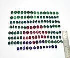 Wholesale 133Pc 925 Silver Plated Faceted Ruby Emerald Sapphire Connector GT514