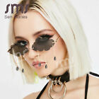 Fashion Rimless Sunglasses Women 2020 Vintage Clouds Tassel Steampunk Sunglasses