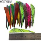 36 Pcs 3 Inch Archery Feather Arrows Ink Painting Feathers Shield Fletching