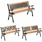 Garden 2/3 Seater Outdoor Classic Wooden Patio Furniture Slatted Large New Rose