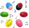 More images of Anzmtos 6-Piece Set of Cute Pattern Percussion Music 3 Wooden Maracas Egg Toy