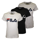 FILA Women's Solid Color Big Shadowed Logo S/S T-Shirt
