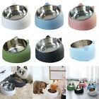 Raised Pet Bowl Stainless Steel Cat Dog Puppy Feeder Water Food Feeding Bowl New