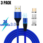 3 in 1 Magnetic Type C Micro USB Cable For iPhone Android Fast Charger Data Cord