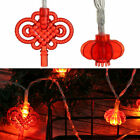 Party Decor String Red Lantern Battery LED String Lights Chinese Knot Lamp