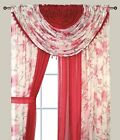 Home Complete Window Sheer Curtain Panel Set With 4 Attached Panels And 2valance