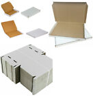 A4 C4 Postal Boxes Royal Mail Large Letter CardBoard Mailing Box white/Brown