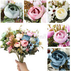 Artificial Pansy Flower Wedding Home Party Decor Fake Flower Bridal Bouquet   C