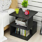 High Gloss Bedside Table Cabinet Nightstand Unit Front Chest of Drawer RGB LED