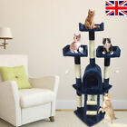 New Cat Tree Scratching Post Scratch Activity Centre Bed Toys Scratcher Beige !