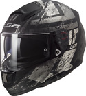 LS2 FF397 Vector Evo Hunter Casco de Moto Negro Mate Casco Bicicleta...