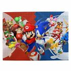 Mario  Sonic the Hedgehog Wooden Jigsaw Puzzle Adults Kids Gift DIY 300-1000pcs