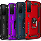 Внешний вид - For Samsung Galaxy S21+/S21 Ultra 5G Case, Ring Stand + Tempered Glass Protector