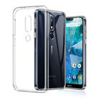 For Nokia 1 2.1 3.1 5 5.1 6 7 7.1 9 X6 X7 Plus 2018 Soft Clear Back Case Cover