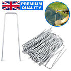 WEED FABRIC GALVANISED STAPLES GARDEN TURF PINS SECURING U PEGS ARTIFICIAL GRASS