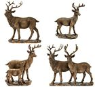 Reflections Bronze Resin Standing Stag Deer Fawn Ornament Figure Boxed Gift