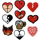 Hearts Patches Love Yin Yan Beer Broken Butt Life Card Burning Wound Embroidered