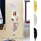 3d Leaf Mirror Wall Stickers Decal Diy Removable Stickers Wall Home Room Decor