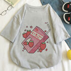 Strawberry Milk Harajuku Graphic Pastel Shirt Top Print Casual Korean Japan