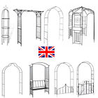 New Lattice Metal Garden Arch Arbour Entrance Archway Plant Support Rose Pergola