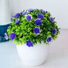 Artificial Potted Flowers Fake False Plants Outdoor Garden Home In Pot Decor R3