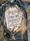 Smooth as Tennessee Whiskey bleached shirt, Poly/cotton Shirt