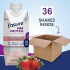 36 Packs Ensure Max Nutritional Shake 30g High Quality Protein - Various Flavor