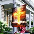 Bible With Bright Cross House Flag Garden Flag US Mothers Day